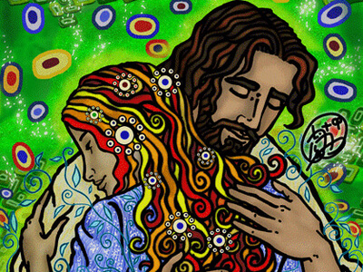 Abrazo de Jesús by Félix Hernández, OP.
